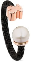 Tous Cultured Freshwater Pearl & Bear Open Ring