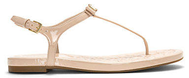 Cole Haan Tali Mini Bow Patent Leather Thong Sandals