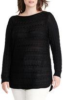 Lauren Ralph Lauren Plus Cable-Knit Cotton Sweater