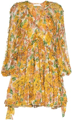 Zimmermann floral print silk V-neck dress