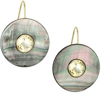 Lizzie Fortunato Taj Mother-of-Pearl Disc Drop Earrings