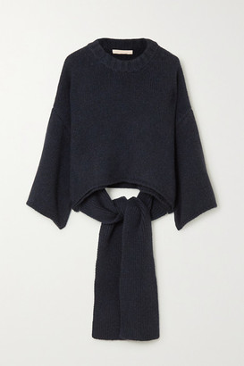 Brock Collection Tie-detailed Cashmere Sweater - Blue