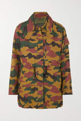 Burberry Camouflage-print Cotton And Ramie-blend Canvas Jacket - Army green