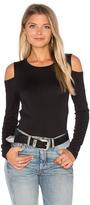 Velvet by Graham & Spencer Zabana Long Sleeve Open Shoulder Top