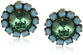 "Liz Palacios Circulo"" Turquoise-Color Crystals Erinite Cushion Center Earrings"