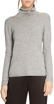 Halston Cutout Funnel Neck Sweater