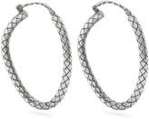 Bottega Veneta Intrecciato-engraved hoop earrings