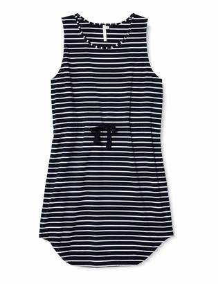 Seafolly Women's Vacay Cotton Short Tank Dress with Draw Cord Waist