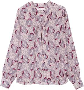 Maison Martin Morel - Nude Josephine Pattern Maple Blouse - S - Pink/Blue