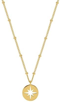 Estella Bartlett Starburst Disc Necklace