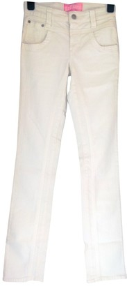 Galliano White Cotton Trousers for Women