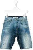 John Galliano studded denim shorts