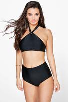 Boohoo Cordoba 50s Twist Halter Bikini