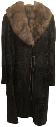 Fendi Black Astrakhan Coat for Women