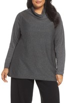 Eileen Fisher Plus Size Women's Scrunch Turtleneck Sweater