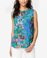 Rachel Roy Floral-Print Tank Top, Created for Macy's