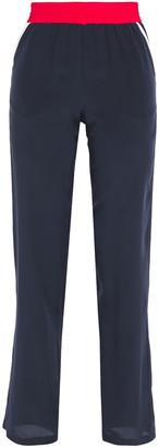Être Cécile Color-block Silk Crepe De Chine Straight-leg Pants