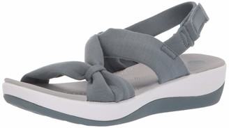 Clarks Women's Arla Primrose Sandal Blue Gray 050 M US