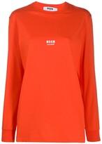 MSGM love! print sweatshirt