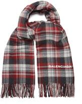 Balenciaga Check blanket scarf