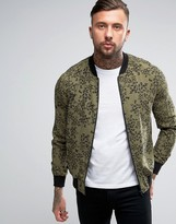 Religion Exclusive Jersey Bomber Jacket With All Over Print