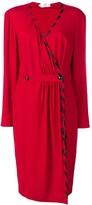 Valentino Pre Owned v-neck buttoned dress