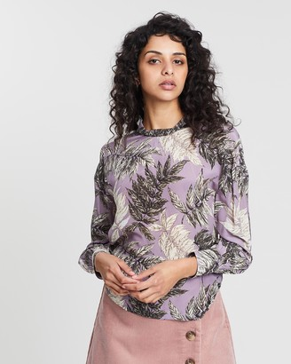Whistles Arabella Floral Print Silk Top