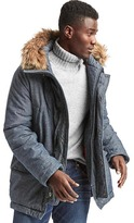 Gap x (RED) chambray puffer parka