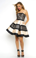 Mac Duggal Prom - 65718 Bustier Dress In Cream Black