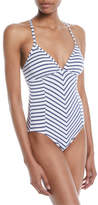 Splendid Chambray All Day One-Piece Swimsuit