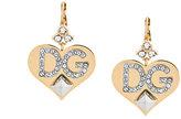 Dolce & Gabbana logo heart earrings