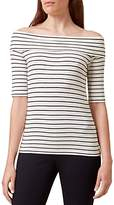 Hobbs London Gail Striped Bardot Off-the-Shoulder Top