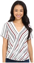 Brigitte Bailey Annora Short Sleeve Crossover Top