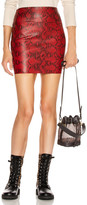 Sprwmn Mini Skirt in Blood Red Snake | FWRD