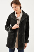 J. Jill Hooded Tumbled-Cord Coat