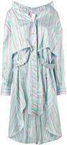 Esteban Cortazar stripe asymmetric shirt dress - women - Silk - 34