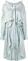 Esteban Cortazar stripe asymmetric shirt dress - women - Silk - 38