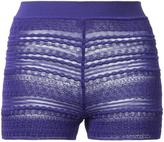 Missoni sheer detail knitted shorts