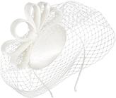 Charlotte Veiled Bow Fascinator, Ivory