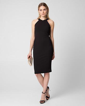 Le Château Knit Crepe Halter Shift Dress