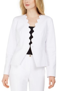 Calvin Klein Snap-Front Scalloped Jacket