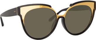 Linda Farrow Monochromatic Cat-Eye Sunglasses