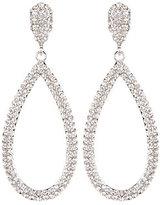 Cezanne Pave Open Teardrop Statement Earrings