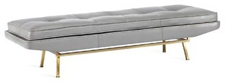 Interlude Klaus Leather Bench