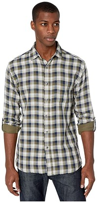 Pendleton Fairbanks Doublecloth Shirt (Olive/Navy Herringbone Plaid) Men's Clothing