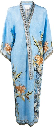 Camilla Floral Embroidered Silk Cardi-Coat