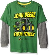 John Deere Little Boys Farm Power Thermal Tee