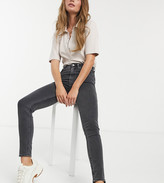 Weekday Body high waist super skinny jeans with organic cotton in black