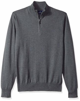 Buttoned Down Men's Supima Cotton Lightweight Quarter-Zip Sweater