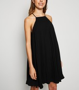 New Look Pleated Halterneck Shift Dress